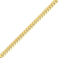 14K Gold 5.5mm Domed Curb Chain