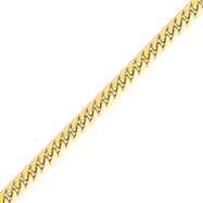 14K Gold 6.25mm Domed Curb Bracelet