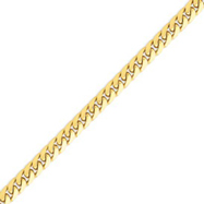 14K Gold 6.75mm Domed Curb Chain