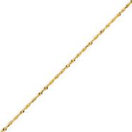14K Gold 1.5mm Diamond Cut Extra-Lite Rope Chain