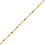 14K Gold 1.8mm Diamond Cut Extra-Lite Rope Chain