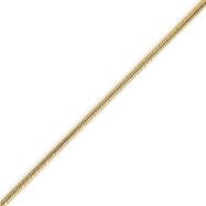 14K Gold 1.6mm Round Snake Chain