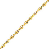 14K Gold 4.16mm Diamond Cut  Extra-Lite Rope Chain