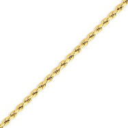 14K Gold 3.0mm Supreme Value Rope Bracelet