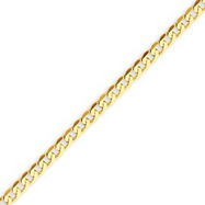 14K Gold 2.4mm Beveled Curb Bracelet