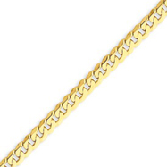 14K Gold 4.6mm Beveled Curb Bracelet