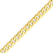 14K Gold 6.1mm Beveled Curb Bracelet