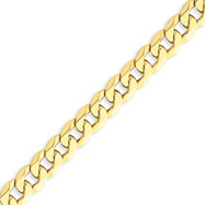 14K Gold 8mm Beveled Curb Chain