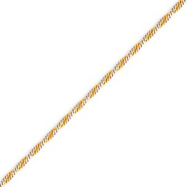 14K Two- Tone Gold 1.9mm Twisted Curb Chain