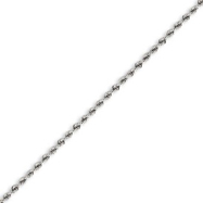 14K White Gold 2.0mm Handmade Regular Bracelet