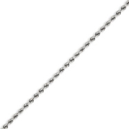 14K White Gold 2.25mm Handmade Regular Chain