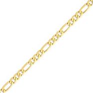 14K Gold 7mm Flat Figaro Chain
