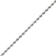 14K White Gold 2.5mm Handmade Regular Bracelet