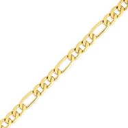 14K Gold 8.75mm Flat Figaro Bracelet