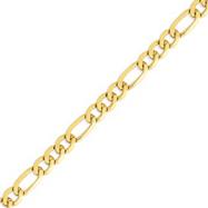14K Gold 10mm Flat Figaro Chain