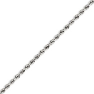 14K White Gold 2.75mm Handmade Regular Chain