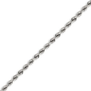 14K White Gold 4.0mm Handmade Regular Chain