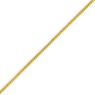 14K Gold 0.9mm Solid Polished Franco Bracelet