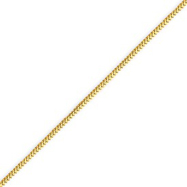 14K Gold 1.0mm Franco Bracelet
