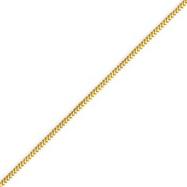 14K Gold 1.0mm Franco Chain