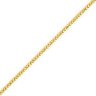 14K Gold 1.3mm Franco Chain