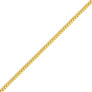14K Gold 1.5mm Franco Bracelet