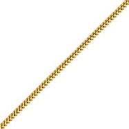 14K Gold 2.0mm Franco Bracelet