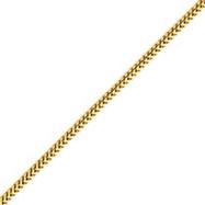 14K Gold 2.0mm Franco Chain