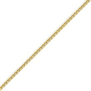 14K Gold 1.8mm Flat Wheat Bracelet