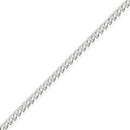14K White Gold 5.2mm Flat Curb Chain