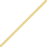14K Gold 2mm Lightweight Handmade Flat Chain