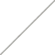 14K White Gold 0.9mm Franco Bracelet