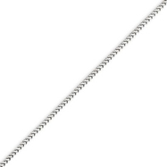 14K White Gold 1.3mm Franco Chain