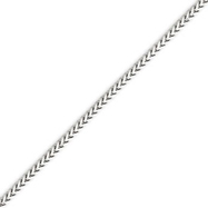 14K White Gold 2.0mm Franco Bracelet
