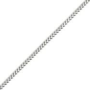 14K White Gold 2.0mm Franco Bracelet