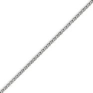 14K White Gold 2.5mm Flat Wheat Bracelet