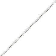 14K White Gold 1.1mm Box Chain