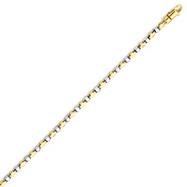 14K Two-Tone Gold 2.5mm Fancy Link Bracelet