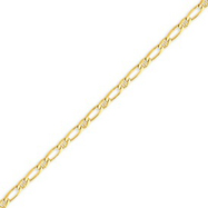 14K Gold 3.25mm Fancy Anchor Chain