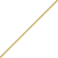 14K Gold 1.25mm Lite Box Chain