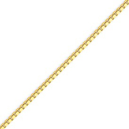 14K Gold 2.25mm Lite Box Bracelet