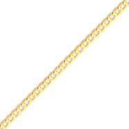 14K Gold 3.8mm Concave Curb Bracelet