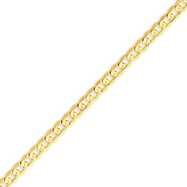 14K Gold 4.5mm Open Concave Curb Bracelet