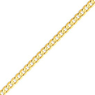 14K Gold 5.25mm Open Concave Curb  Bracelet