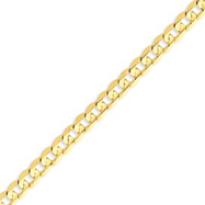 14K Gold 6.75mm Open Concave Curb Bracelet