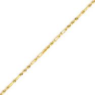 14K Yellow Gold 2.0mm Milano Rope Bracelet