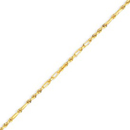 14K Yellow Gold 2.0mm Milano Rope Anklet