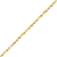 14K Yellow Gold 3.0mm Milano Rope Bracelet