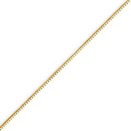 14K Yellow Gold 0.7mm Box Chain