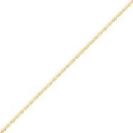 14K Yellow Gold 0.8mm Lite-Baby Rope Chain